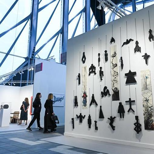Marian Goodman Gallery's booth at Frieze New York 2021. Photo: Casey Kelbaugh.