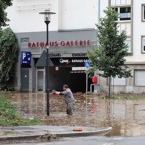 Flooding in Hagen, Germany. Photo: Klaus Bärwinkel/Wikipedia Commons.