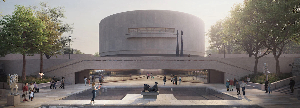 Rendering of Hiroshi Sugimoto's redesign for the Hirshhorn Museum and Sculpture Garden. Image: Hirshhorn Museum and Sculpture Garden.