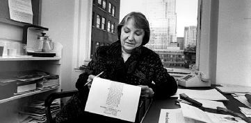 Pauline Kael at the New Yorker, ca. 1985. Photo: Christopher Little