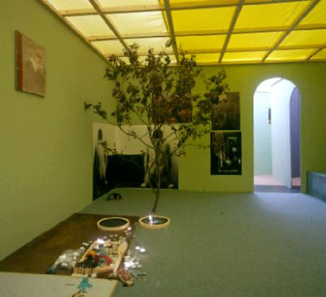 Kai Althoff, Aus Dir (Out of you), 2001. Installation view, Galerie Daniel Buchholz, Cologne.