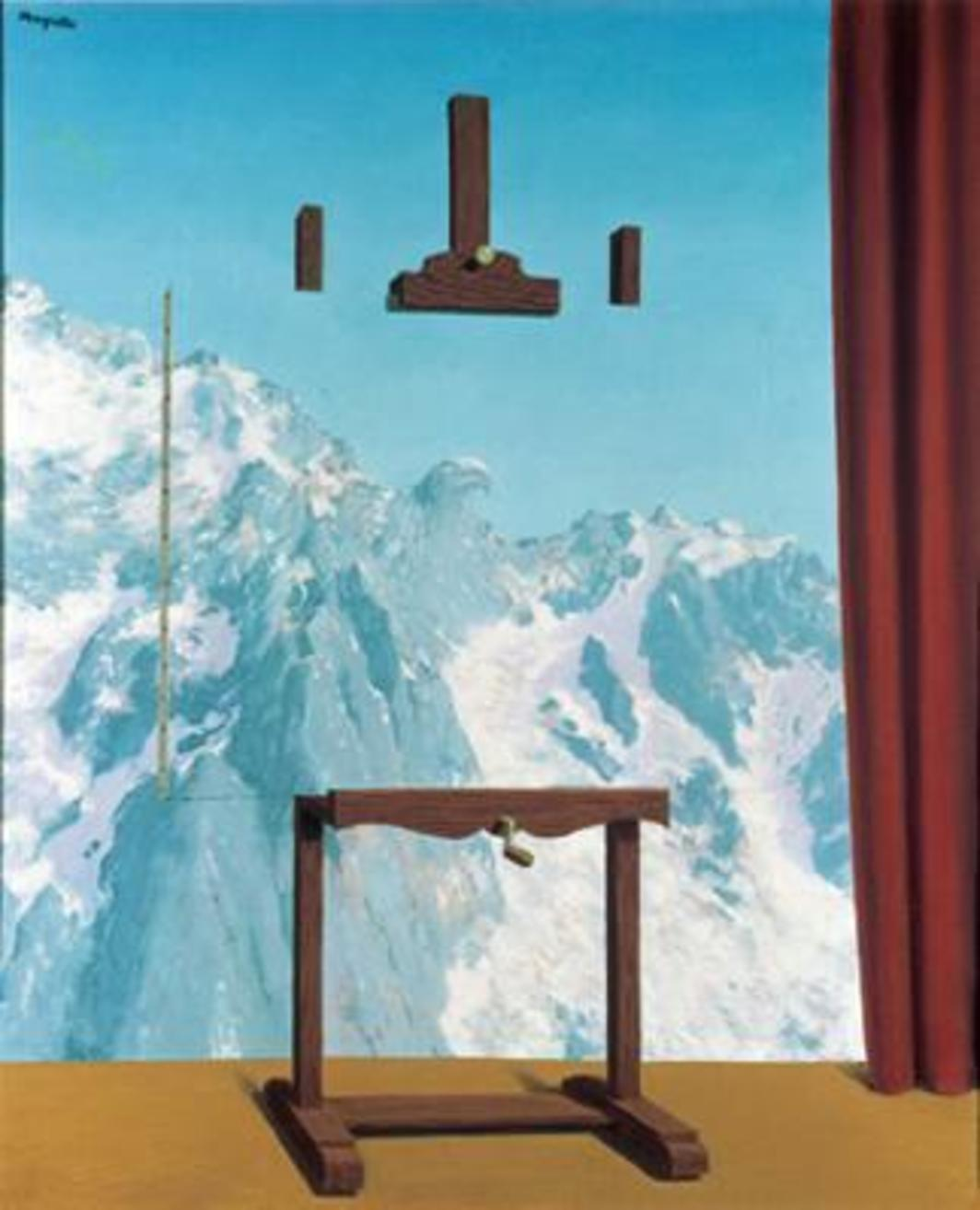 "René Magritte, L'Appel des cimes (The call of the peaks), 1943, oil on canvas, 25 5/8 x 21 1/4""."