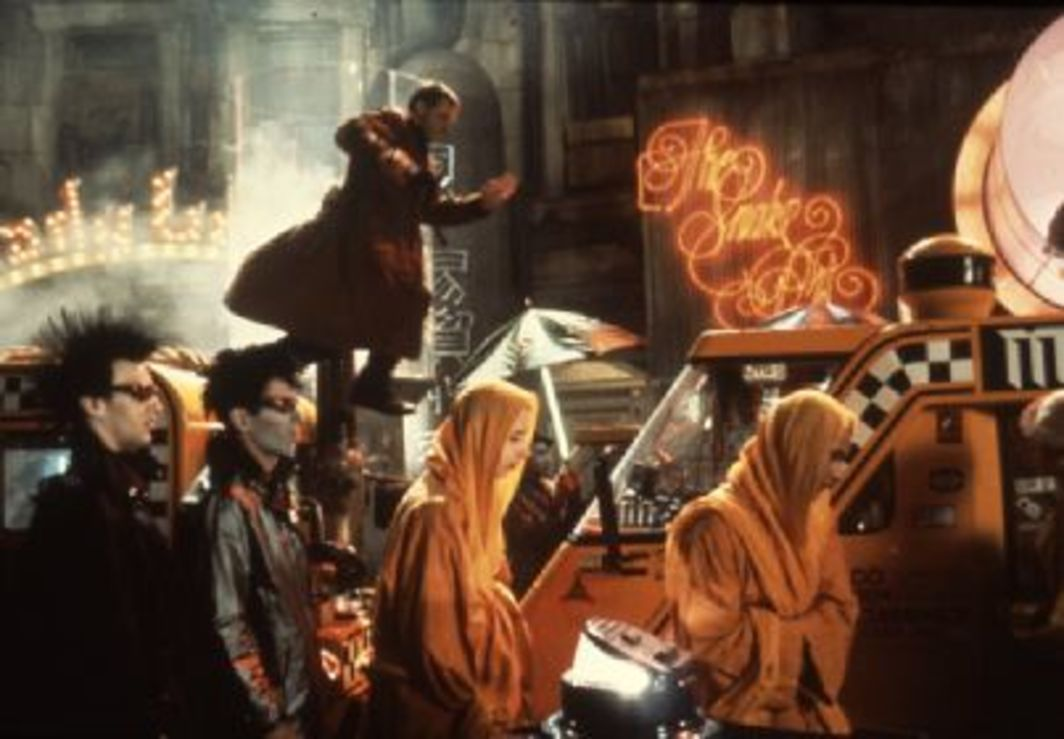 Ridley Scott, Blade Runner, 1982, still from a color film in 35 mm, 117 minutes.