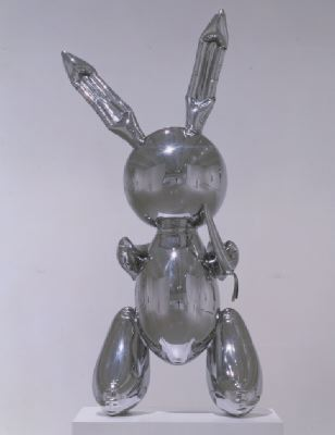 Jeff Koons, Rabbit, 1986, stainless steel, 41 x 19 x 12.""