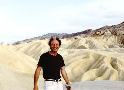 Sylvère Lotringer, Death Valley, California, 1990. Photo: Chris Kraus.