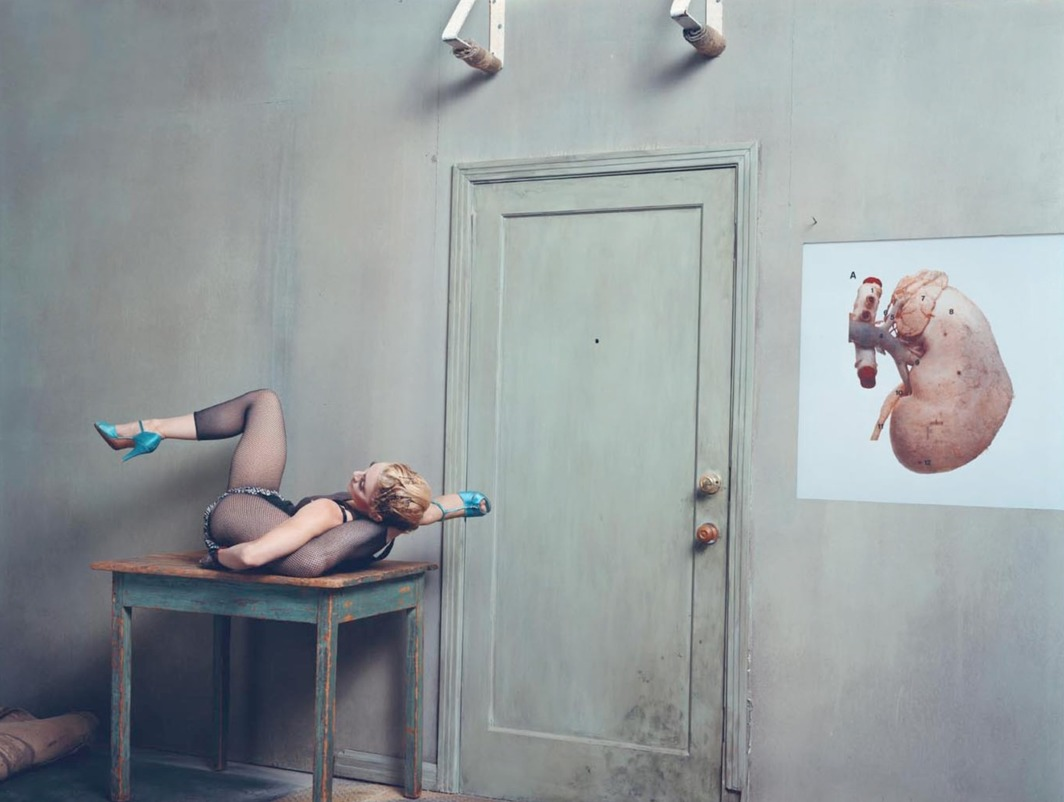 "Steven Klein and Madonna, Kidney, 2003, color photograph, 70 x 86""."