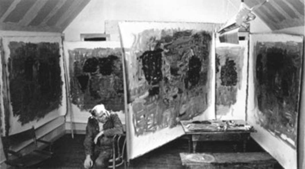 Philip Guston in his studio, Woodstock, New York, 1964.