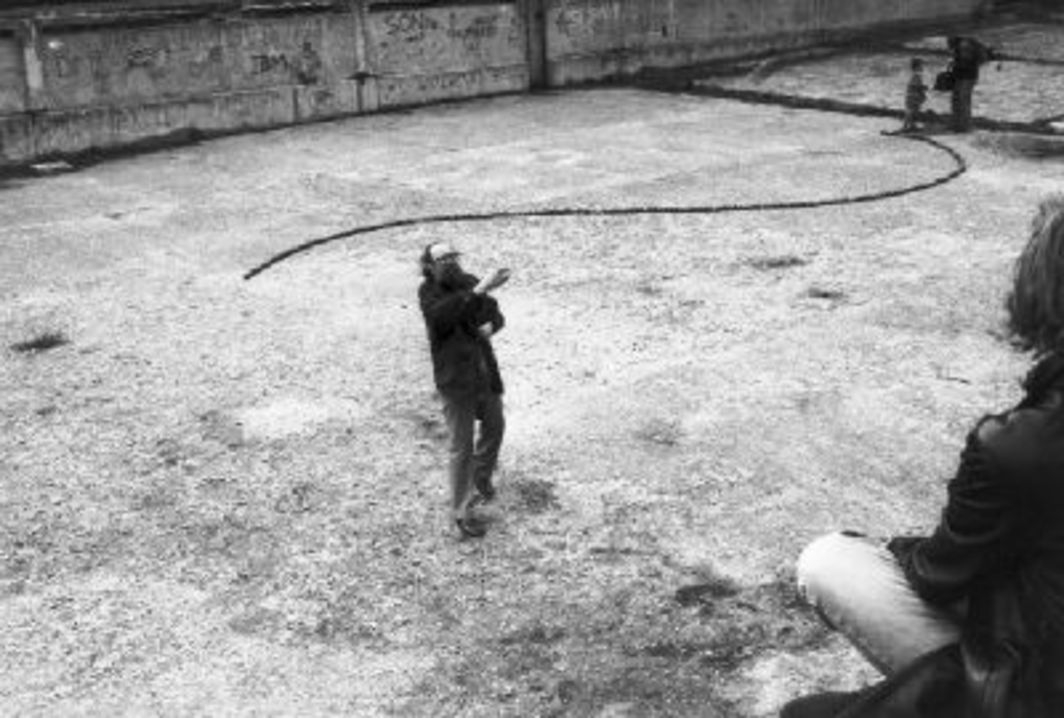 Július Koller, Munich Cultural Situation (U.F.O.), 1991. Performance view.