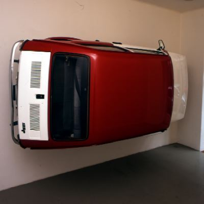 Simon Starling, Flaga (1972–2000), 2002. Installation view, Galleria Franco Noero, Turin, 2002.