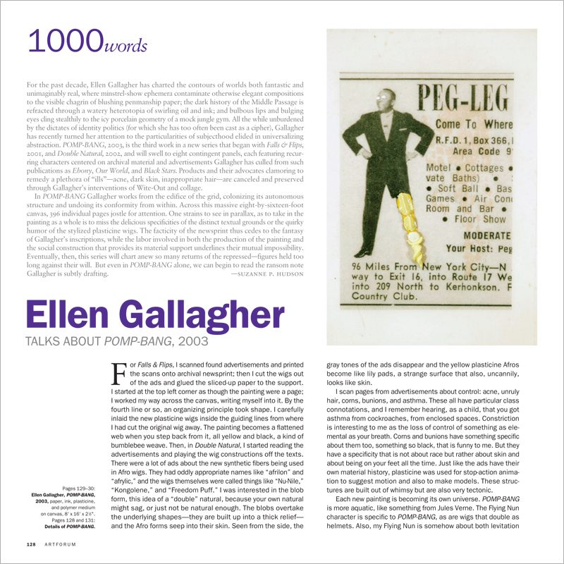 1000 WORDS: ELLEN GALLAGHER