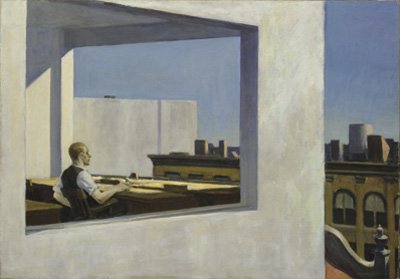 Office in a Small City, oil on canvas, 1953.