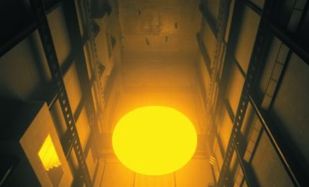 Olafur Eliasson, The Weather Project, 2003. Installation view, Tate Modern, London, 2003. Photo: Jens Ziehe.