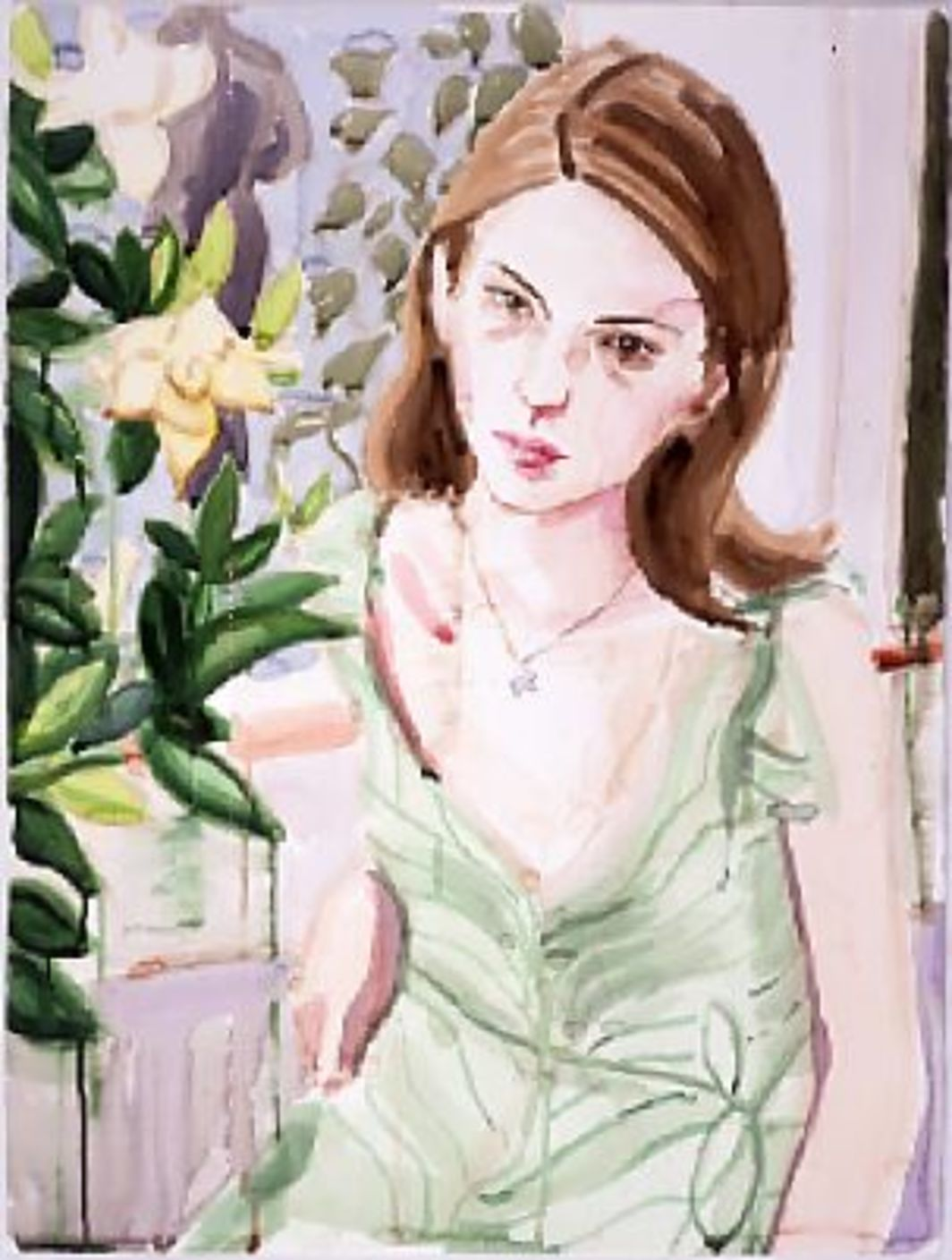 "*Elizabeth Peyton, _Sofia,_ 2003,* watercolor on paper, 30 x 22""."