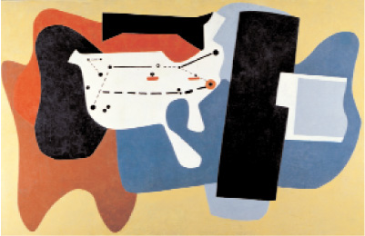 "Arshile Gorky, Aerial Map, 1936–37, oil on canvas, 6' 5"" x 10' 1""."