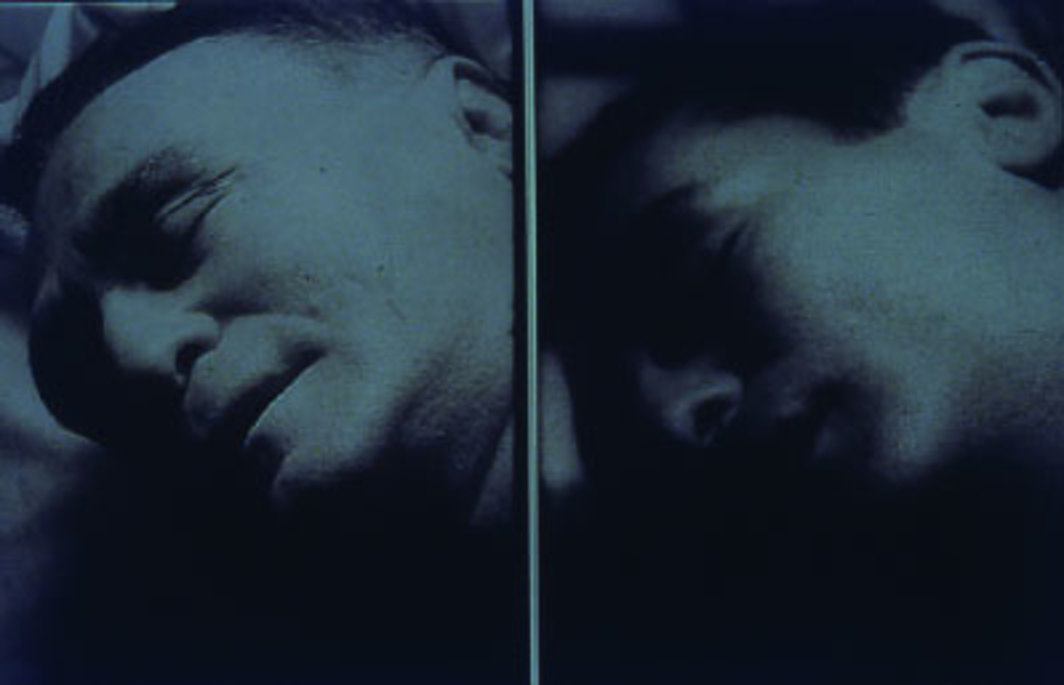 Pierre Huyghe, Sleeptalking, 1998, still from a black-and-white film in 16 mm, 60 minutes.
