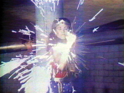 Dana Birnbaum, Technology/Transformation: Wonder Woman, 1978–1979, still from a color video, 5 minutes 50 seconds. Courtesy of Electronic Arts Intermix (EAI), New York.