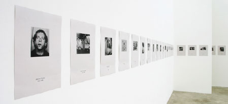 "Hans-Peter Feldmann, Die Toten (The Dead), 1998, 90 photocopies on paper, each 15 3/4 x 11 13/16""."
