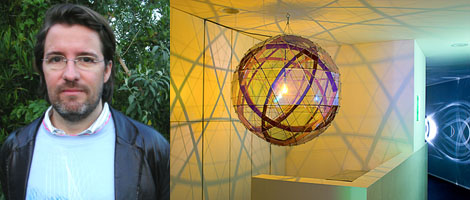 Left: Olafur Eliasson. (Photo: Emily Kang) Right: Installation view. (Photo: Fredrik Nilsen)
