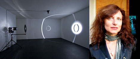 Left: Installation view. (Photo: Fredrik Nilsen) Right: Emi Fontana (Photo: Emily Kang)