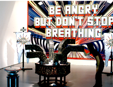 "View of ""Be Angry But Don't Stop Breathing,"" Tate Britain, London, 2003."
