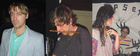 Left: Ash L'Ange. Middle: Brian DeGraw. Right: Lizzi Bougatsos and Tim DeWitt.