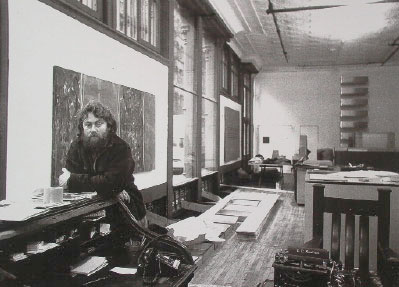 Donald Judd in his Spring Street studio, New York, ca. 1970. Photo: Paul Katz.