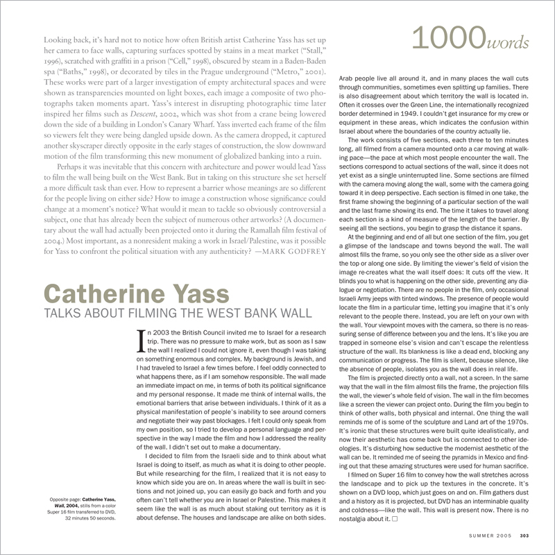 1000 WORDS: CATHERINE YASS
