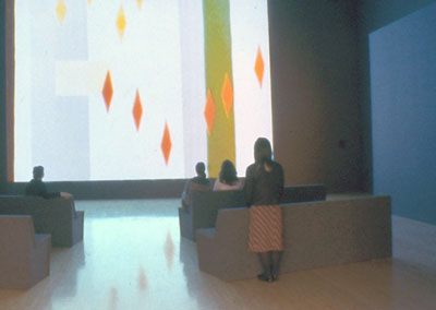 "Oskar Fischinger, Radio Dynamics, 1942. Installation view, ""Visual Music,"" Los Angeles Museum of Contemporary Art, 2005. Photo: Brian Forrest."
