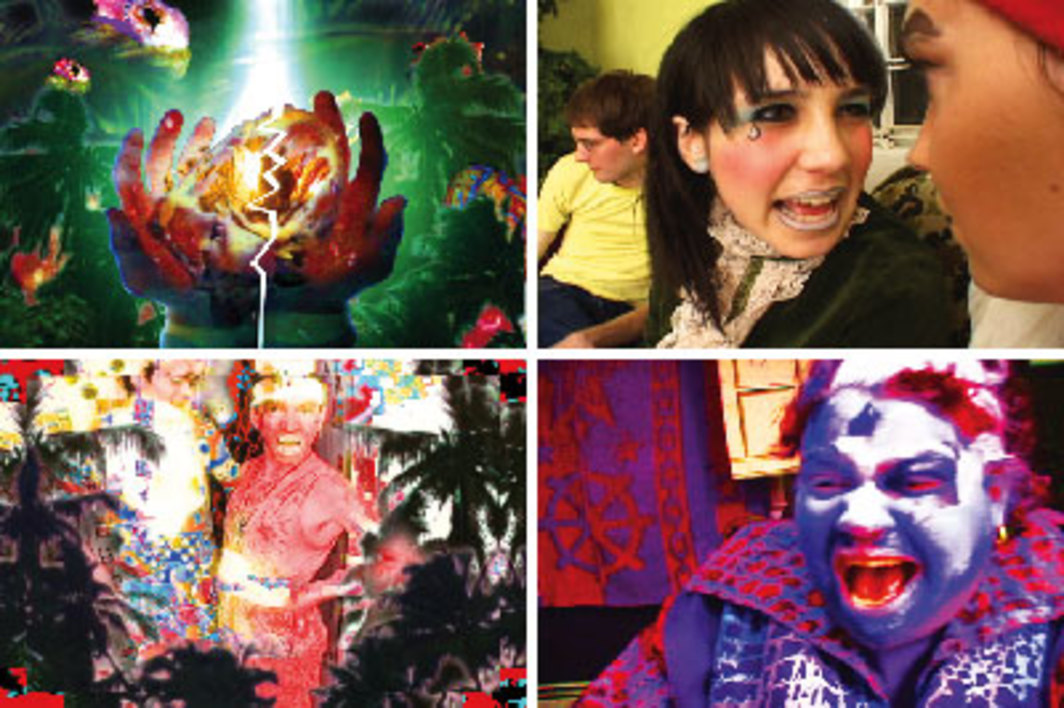 Ryan Trecartin, A Family Finds Entertainment, 2004, stills from a color video, 41 minutes 12 seconds.