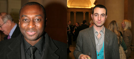 Left: Kodwo Eshun of the Triennial artist collective The Otolith Group. Right: Triennial artist Pablo Bronstein.