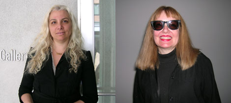 Left: Andrea Rosen. Right: Bibbe Hansen.