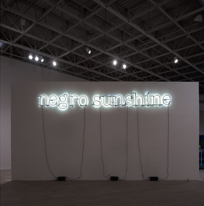 Glenn Ligon, Warm Broad Glow, 2005, neon and paint. Installation view, Contemporary Arts Museum Houston, 2006. Photo: Rick Gardner.