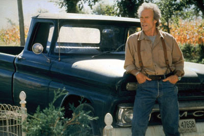 *Clint Eastwood, _Bridges of Madison County,_ 1995,* still from a color film in 35 mm, 135 minutes. Robert Kincaid (Clint Eastwood).