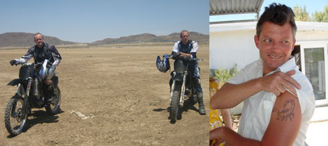Left: Local dirtbikers the Coon brothers. (Photo: Don Morrison) Right: Artist Sebastian Clough. (Photo: David Page)