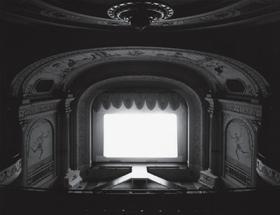 "Hiroshi Sugimoto, Cabot Street Cinema, Massachusetts, 1978, black-and-white photograph, 16 5/8 x 21 1/4""."