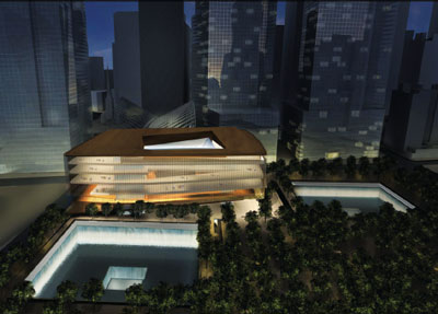 Snøhetta, WTC Cultural Center, 2004. Rendering by Placebo Effects.
