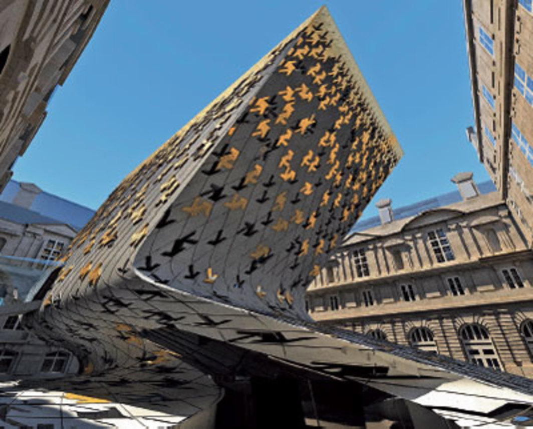 Zaha Hadid, Department of Islamic Art, Musée du Louvre, 2005, Paris. Rendering.