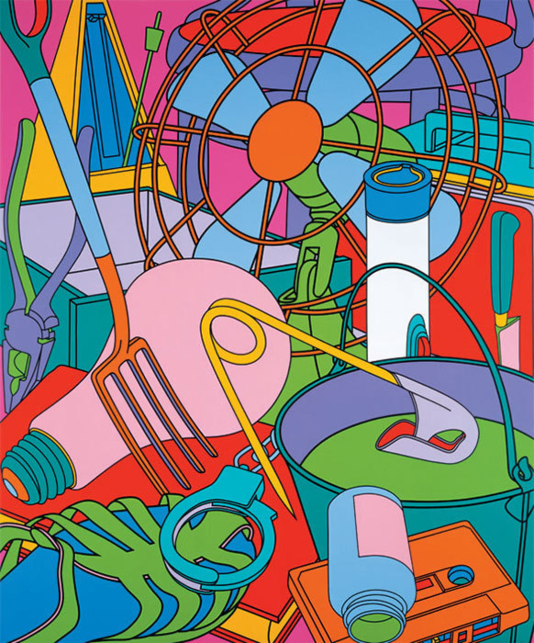 "Michael Craig-Martin, Eye of the Storm, 2003, acrylic on canvas, 11' x 9' 2""."