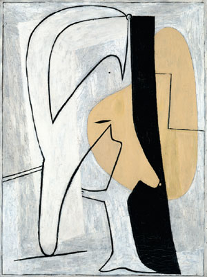 "Pablo Picasso, Figure, 1927, oil on plywood, 50 3/4 x 37 1/2"". © Artists Rights Society (ARS), New York."