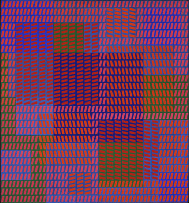 "Victor Vasarely, KEIHO-C2, 1963, casein on Masonite mounted on panel, 32 x 29 1/2"". © 2006 Victor Vasarely/Artists Rights Society (ARS), New York/ADAGP, Paris."