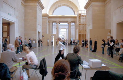 Pablo Bronstein, Plaza Minuet, 2006. Installation view, Tate Britain, London.