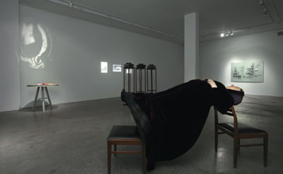 "View of ""What's in a Name,"" 2007, Andrew Kreps Gallery, New York. Foreground: Madame Blavatsky, 2007."