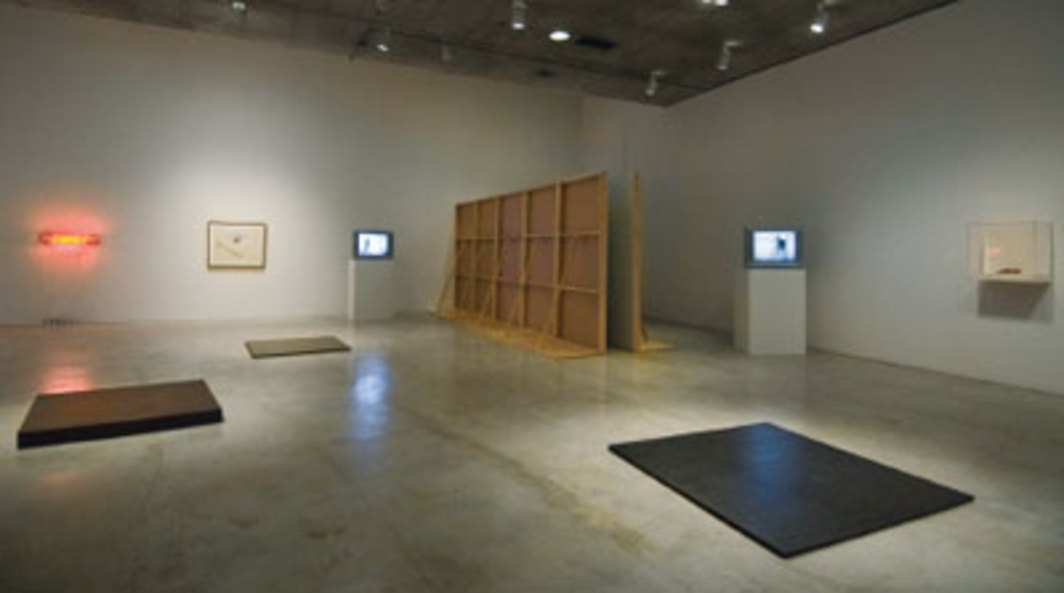 "View of ""A Rose Has No Teeth: Bruce Nauman in the 1960s,"" 2007, University of California, Berkeley Art Museum and Pacific Film Archive, Berkeley, CA. Photo: Ben Blackwell."