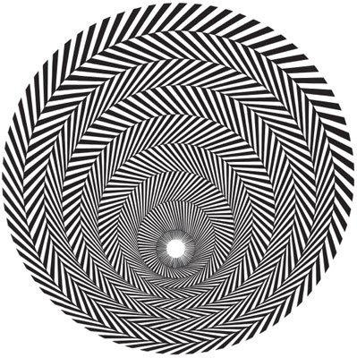 "Bridget Riley, Blaze 3, 1963, acrylic on board, 37 1/2 x 37 1/2"".  From ""Optic Nerve: Perceptual Art of the 1960s,"" Columbus Museum of Art, Columbus, OH, 2007."