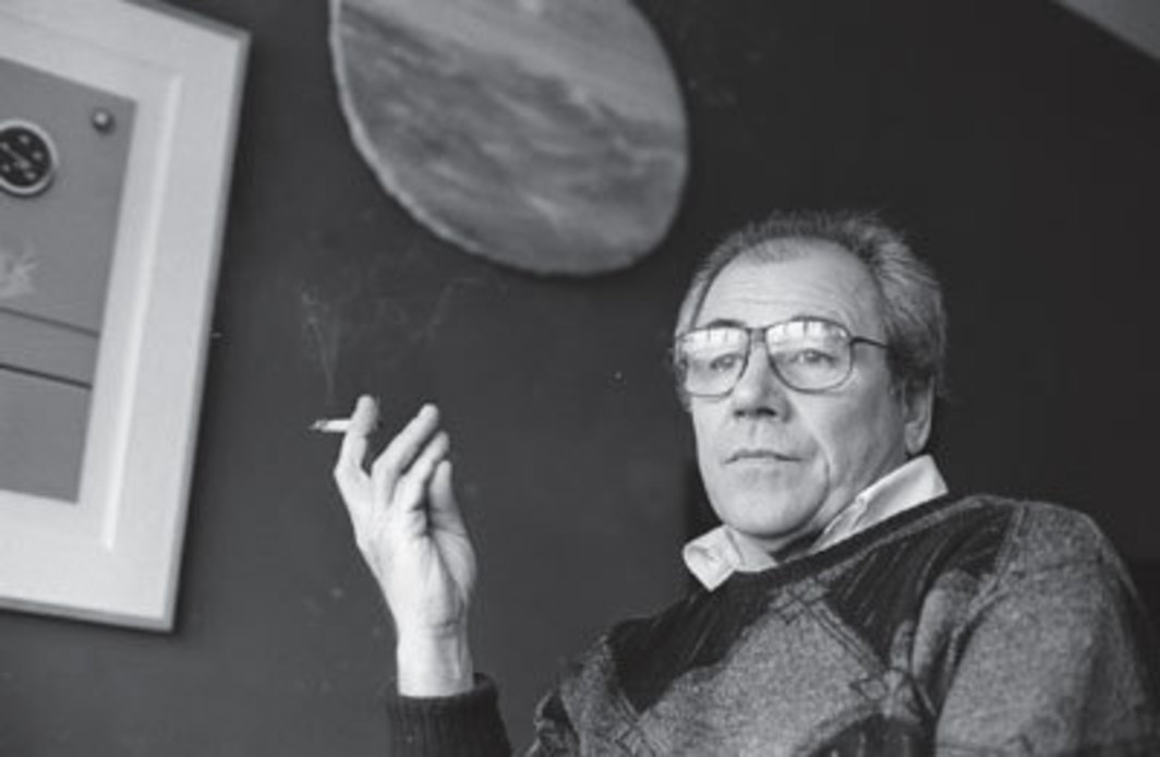 Jean Baudrillard in Paris, 1986. Photo: Sophie Bassouls/Corbis.