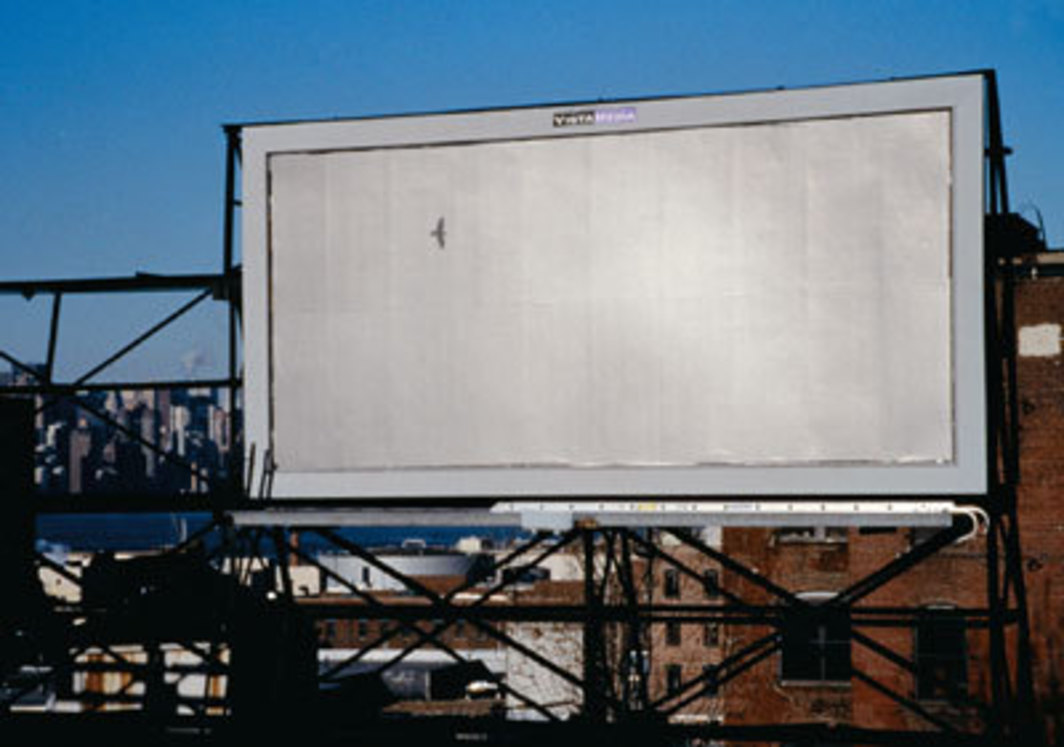 "Felix Gonzalez-Torres, ""Untitled"", 1995, billboard. Installation view, South Fifth and Berry Streets, Brooklyn, New York, 2000."