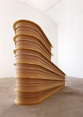 "Replace the Irreplaceable, 2006, pear wood and brass, 7' 6 9/16"" x 10' 9 15/16"" x 2' 11 7/16""."