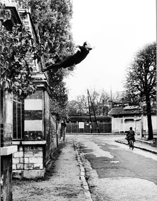 "Yves Klein, Leap Into the Void, 1960, photo panel, 96 x 60"". © 2007 Artists Rights Society (ARS), New York / ADAGP, Paris."