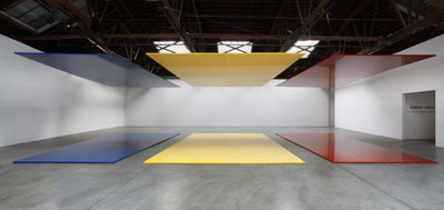 Robert Irwin, Who's Afraid of Red, Yellow and Blue³, 2006, mixed media. Installation view, PaceWildenstein, New York. Photo: Genevieve Hanson. © Roert Irwin 2006/Artists Rights Society (ARS), New York, NY.