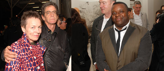 Left: Artist Laurie Anderson and Lou Reed. Right: Artist Isaac Julien. (Photos: David Velasco)